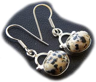 Thebestjewellery Dalmatian Jasper Earring, Silver Plated Earring, Handmade Earring Dangle Earring, Gift Jewelry BRS-5880
