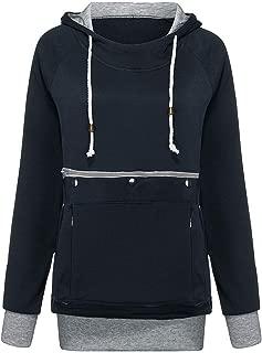 👍ONLY TOP👍 Unisex Big Kangaroo Pouch Loose Fleece Hoodie Long Sleeve Pullover Pet Cat Dog Holder Carrier Sweatshirts