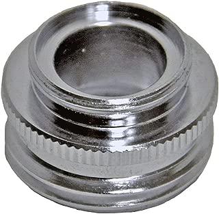 Danco, Inc. 10522 Aerator Adapter, 2.5 Gpm, Male X 13/16-27 Female, Chrome Plated, Male/Female Faucet to Female/Male Faucet or Female Garden Hose to Female Faucet