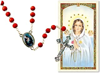 Mystic Rose Rosa Mistica Rose Scented Rosary with Prayer Card Blessed By HIS Holiness Pope Francis
