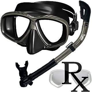 Prescription Purge Mask Dry Snorkel Snorkeling Scuba Diving Combo Set /SCS0005
