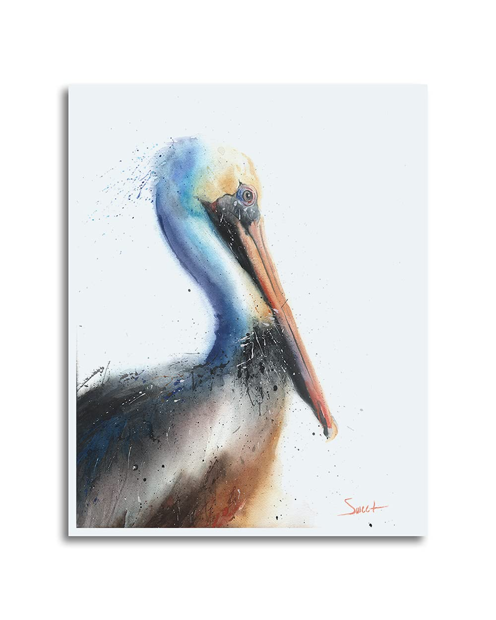 Pelican Watercolor Time sale Print - Max 41% OFF Signed Artist and Dated Eric Sweet