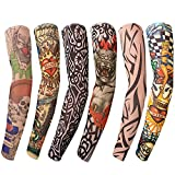 Benbilry 6 Stück Tattoo Ärmel Tattoo Armstrumpf Tatoo Armstrümpfe Arm Tattoo Strumpf Unisex Nylon Temporäre Tattoos Arm Tätowierung Armstrümpfe Tattoo Strumpf Arm für Karneval Fasching Party -