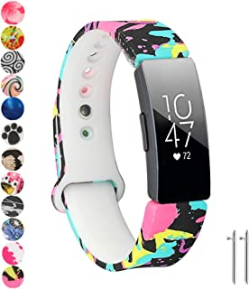 Tkasing Compatible with Fitbit Inspire/Inspire HR/Ace 2 Band,Soft Silicone Strap Replacement Wristband Replacement for Fitbit Inspire HR
