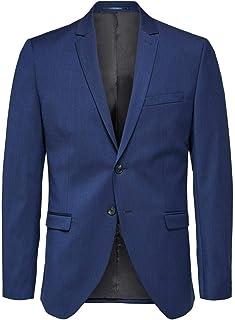 Selected Men's Slhslim-mylobill Blue BLZ B Noos Blazer