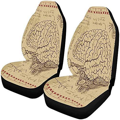 Fall Ing Mecánica del cerebro humano Ojo y símbolos místicos Funda de asiento de carro, Protector de asiento Cojines de asiento de carro