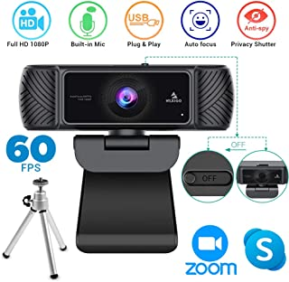 2020 Streaming 1080P 60FPS Webcam with Microphone, Built-in Privacy Cover and Tripod, NexiGo Pro USB HD Computer Web Camer...