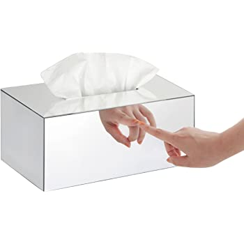 Tissue Box Holder/Toilet Tissue Box Cover/Bath Tissue Cover, Mirror-Rectangle