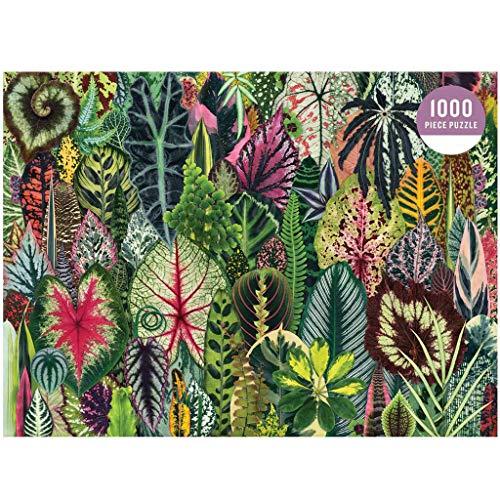 Puzzle 1000 Teile, Farbige Blätter Puzzle für Erwachsene Kinder,Impossible Puzzle,Geschicklichkeitsspiel für die ganze Familie,Farbenfrohes Legespiel,Papier Große Puzzle, 75 x 50cm/ 29.53 x 19.69in