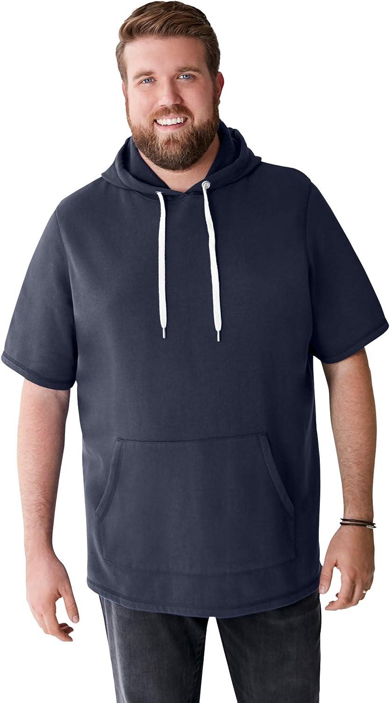 Liberty Blues Men's Big & Tall Short-Sleeve Hoodie