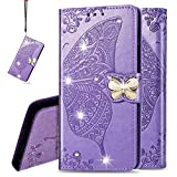 IMEIKONST Wallet Case for Huawei Honor 9X Lite, Bling