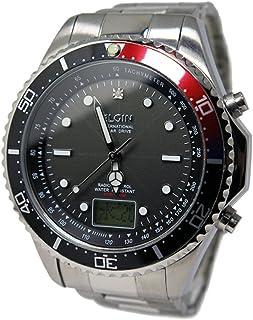 エルジン ELGIN 腕時計 電波 ソーラー メンズ FK1400S-BRP 並行輸入品 [並行輸入品]