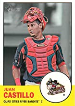 2012 Topps Heritage Minor League #188 Juan Castillo Quad City River Bandits MLB Baseball Card NM-MT