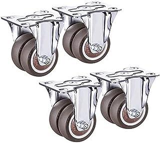 """Zwenkwiel Bewegende zwenkwielen 2"""" zware zwenkwielen Set van 4 rubberen zwenkwielen met rem Zwenkwiel voor bureaus Salonta..."""