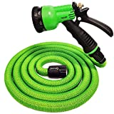 Junredy 25ft Garden Hose Expandable Flexible Water Hose with 8 Function Spray Nozzle | Durable 3750D...