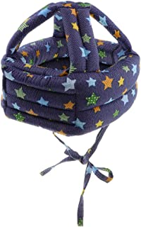 Dolity Toddler Adjustable Safety Helmet Headguard Protective Harnesses Hat Safety Caps for Walking & Crawling - Star B Pattern