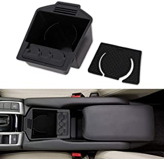 KanSmart Front Seat Organizer Cup Holder Insert Car Console Coin Storage for Honda Civic 2016 2017 2018
