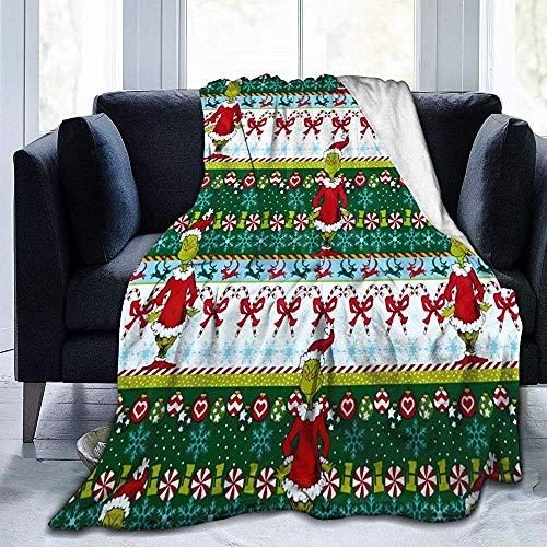 Nazi Mie Cómo The Grinch robó la Manta navideña, la Manta de Franela Throw Ultra Soft Micro Fleece Blanket