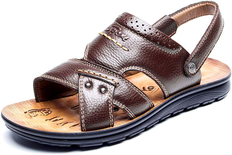 DHFUD Sommer-Casual Sommer-Casual Strand Schuhe Leder Dicken Boden Anti-Rutsch-Sandalen Im Mittleren Alter Und Hausschuhe  viele Zugeständnisse
