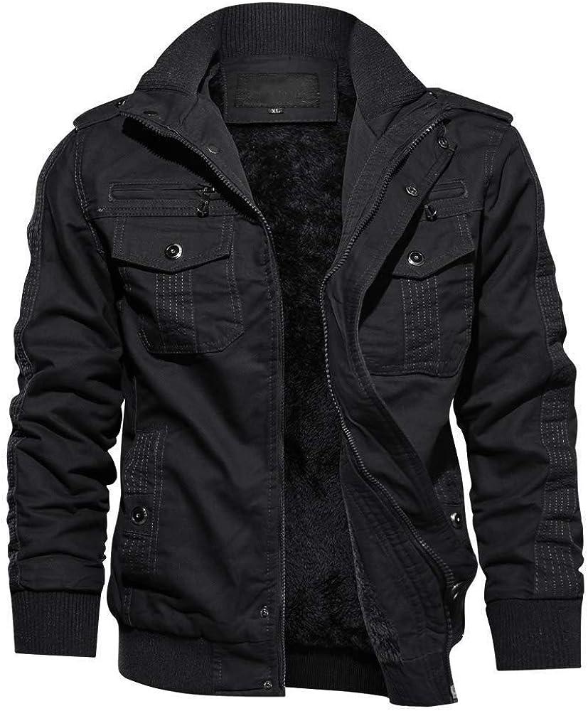 TACVASEN Men's Winter Jacket-Fleece Sale price Cotton Miami Mall Thicken Coat Military