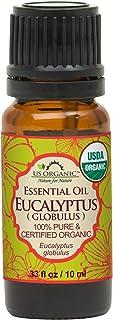 US Organic 100% Pure Eucalyptus Essential Oil (Globulus) - USDA Certified Organic, Steam Distilled - W/Euro droppers (More...