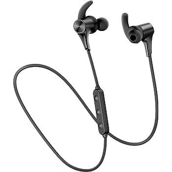 SOUNDPEATS(サウンドピーツ) Q12HD ワイヤレスイヤホン APTX-HDコーデック対応 人間工学 デザイン Free-bit イヤーフック 高音質・低遅延 超軽量 Bluetooth イヤホン 14時間連続再生 ブルートゥース イヤホン Bluetooth5.0搭載 IPX6防水 マグネット内蔵 CVC ノイズキャンセリング搭載 ハンズフリー通話 ワイヤレス ヘッドホン ブラック