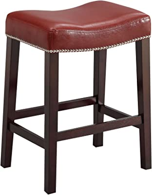 Surprising Amazon Com Acme Lewis Bar Stool Set Of 2 White Pu And Uwap Interior Chair Design Uwaporg