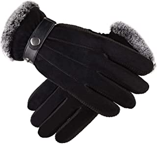 SGJFZD Men's Fashion Lightweight Winter Warm Gloves Touch Screen Gloves Driving Gloves Cycling Riding Gloves Thermal Gloves (Color : Black, Size : OneSize)