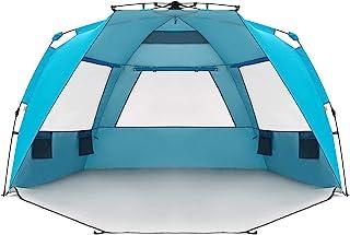 Easthills خارج از منزل Instant Shader Enhanced Deluxe XL Easy Up 4 نفر پناهگاه ساحل Sun Attack UPF 50+ دوبلین پوشش با درب فلزی زیپ
