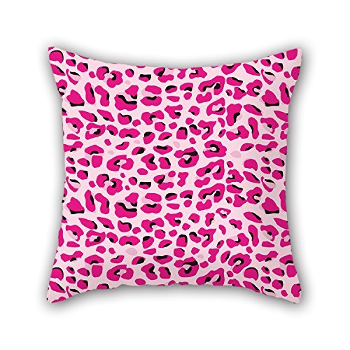 MaSoyy Léopard Throw Pillow Case Best for Bedding Dining Room Play Room Canapé Him intérieur 18 x 18 inches/45 by 45 cm (Each Side)