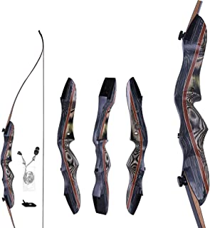 "Image of Keystone Traditional Sports WASP Takedown Recurve Bow 62"" Hunting Bow - Draw Weights in 20-60 lbs - Wooden Bow with Stringer Tool for Beginner to Intermediate User"