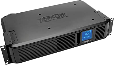 $187 » Tripp Lite 1200VA Smart UPS Battery Back Up, 700W Rack-Mount/Tower, 8 Outlets, LCD Display, AVR, USB, DB9 2URM (SMART1200LCD)