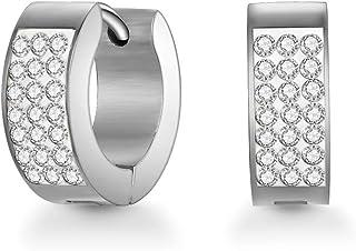Mestige Rosie Cuff Women's Hoop Earrings with Swarovski Crystals - MSER3244