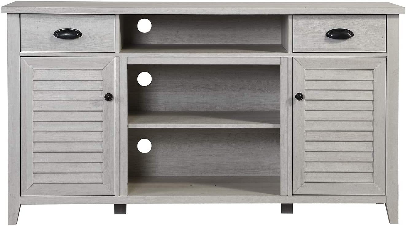 Home Source Antique White Tv Stand up to 65