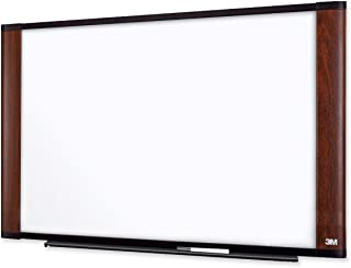 3M M7248MY Melamine Dry Erase Board, 72 x 48, Mahogany Frame