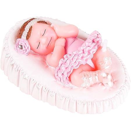 Vela Bebe ni/ña Vela cumplea/ños ni/ña Rosa Vela Baby Shower Triumph Plant Co Vela Bebe Vela Tarta Bautizo