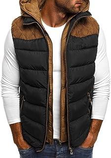 SANFASHION Men Gilet Jacket Body Warmer Lightweight Sleeveless Soft Casual Autumn Winter Multi Pocketed Waistcoat Pocket F...
