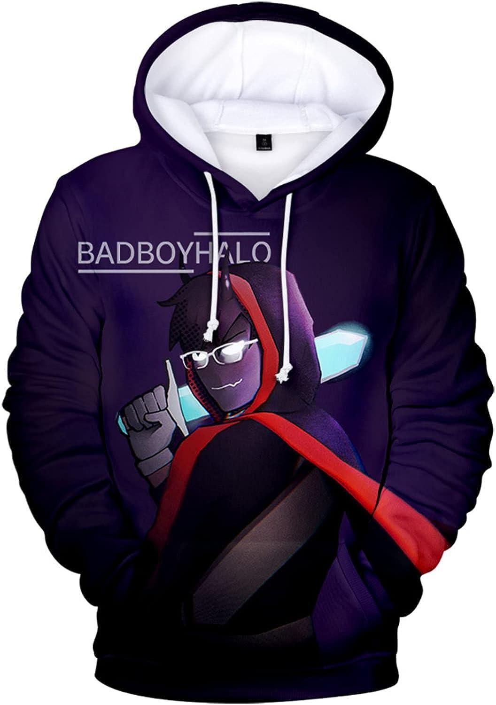 Fifbeans Badboyhalo Hoodies Pullovers Hoodie Sweatshirt with Pockets For Kids/Adults
