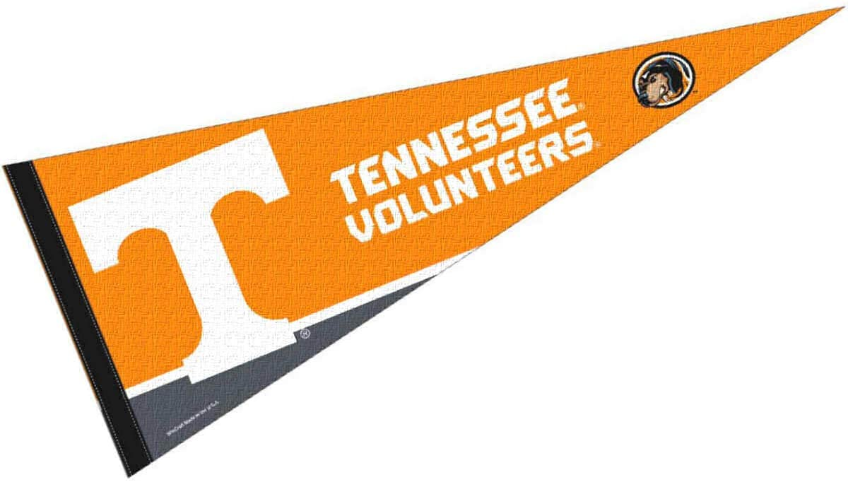 Amazon Com College Flags Banners Co Tennessee Volunteers Pennant Full Size Felt Sports Outdoors