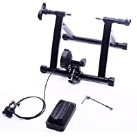 BalanceFrom Magnetic Steel Stand Exercise Bicycle with Front Wheel Riser Block (Black)
