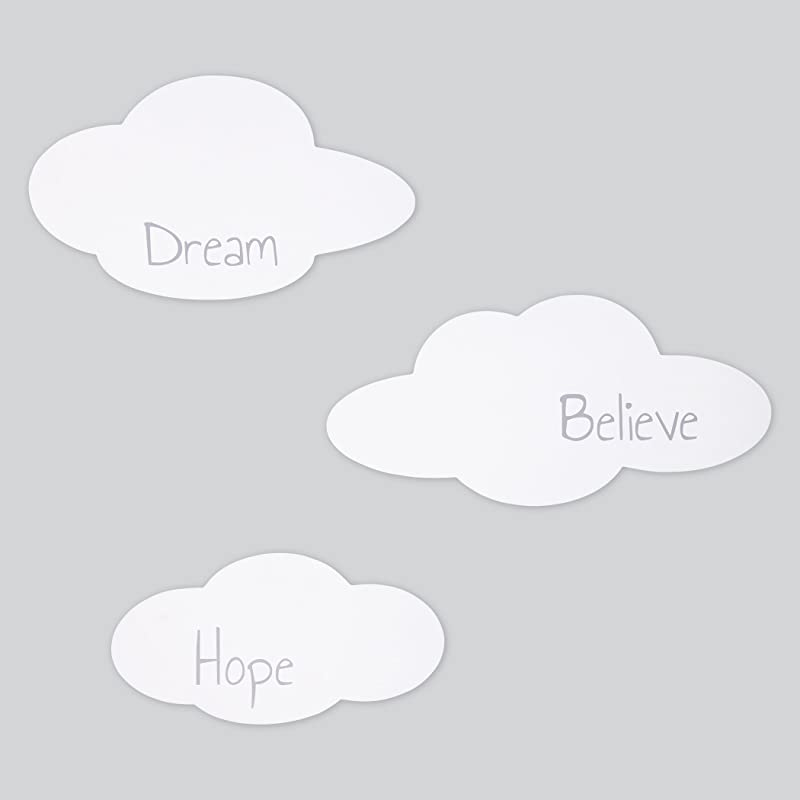 Trend Lab Clouds 3 Piece Wood Wall Decor