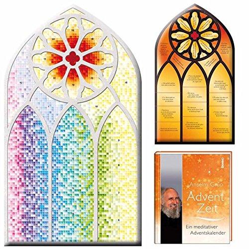Kirchenfenster-Adventskalender: mit Begleitbuch \'AdventZeit\'