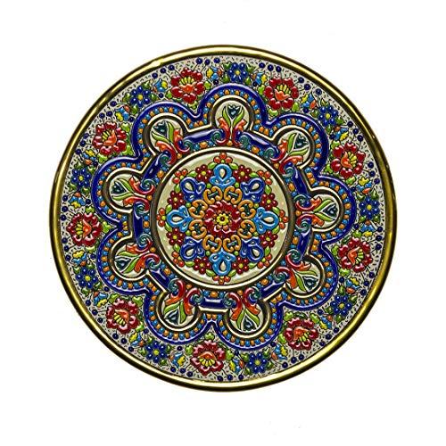 Plato Decorativo Pared. Cerámica artística andaluza 28 cms. Serie decoración hogar
