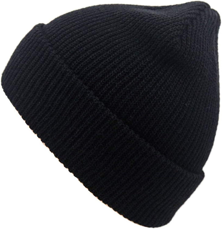 1a5487e4148185 Beanie Hat Men's Winter Solid color Warm Knit Ski Ski Ski Hat (color Black)  58bd3a