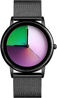 Rainbow Colored Watch Classic Fashion Watches Women Quartz Stainless Steel Waterproof Watch