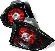 ACANII - For Black 2001-2003 Honda Civic 2Dr 2 Door Coupe Dx Ex Lx Si Hx Tail Lights Brake Lamps Driver Passenger Side