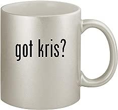 got kris? - Ceramic 11oz Silver Coffee Mug, Silver