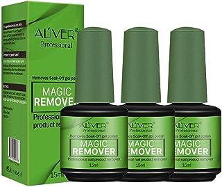 پاک کننده لاک ناخن 3 عدد ، ژل Magic Soak-Off Nail Polish Remover-Quick ، حرفه ای پاک کننده ناخن ناخن برای ناخن های طبیعی و ژل