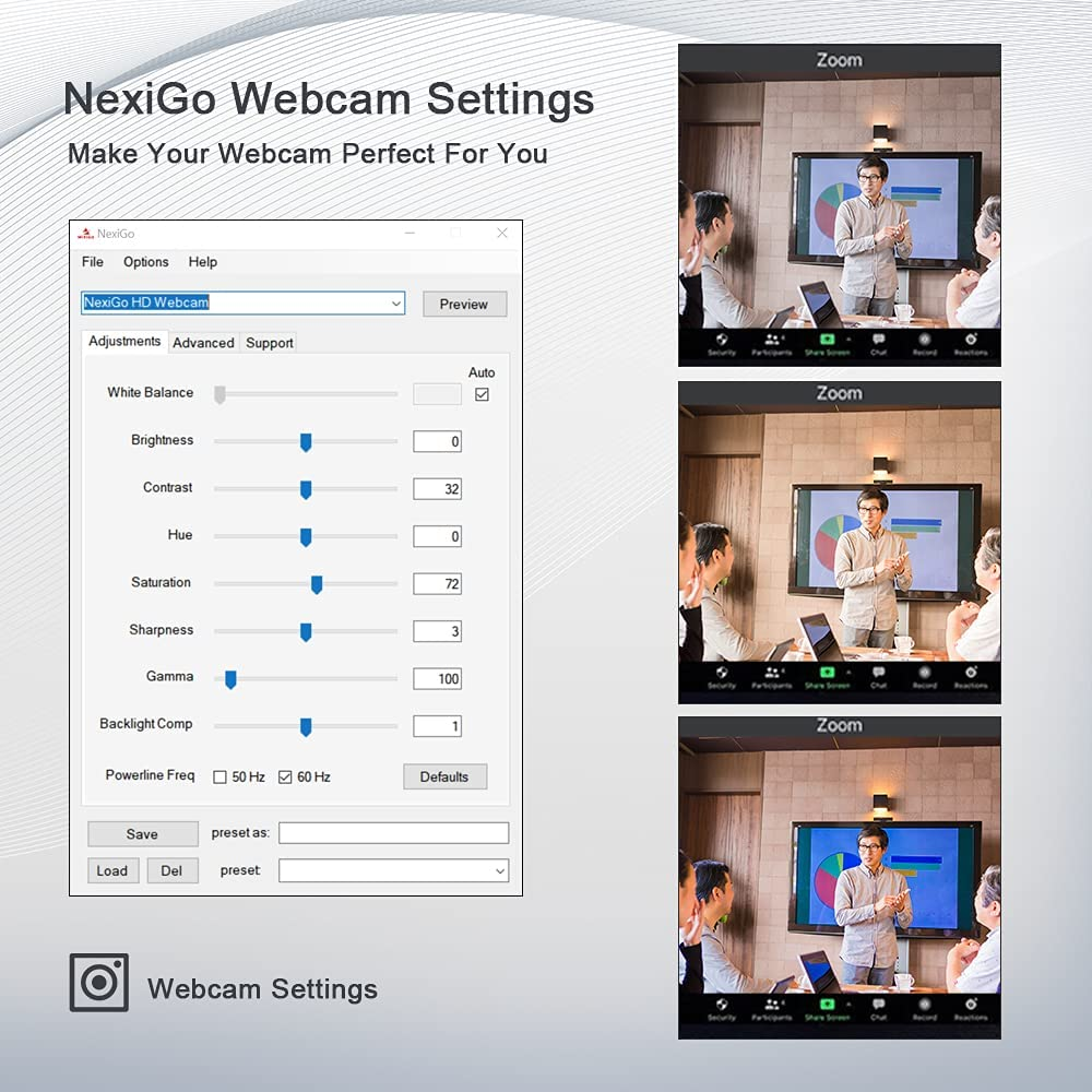 2021 AutoFocus 1080P Webcam with Microphone, Software and Privacy Cover, NexiGo N680 Business Streaming USB Web Camera, for Online Class, Zoom Meeting Skype Facetime Teams, PC Mac Laptop Desktop