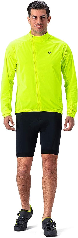 Naviskin Mens Cycling Jacket Lightweight Windproof Water Resistant Windbreaker Bike Coat